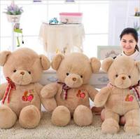 brinquedos educativos ursinhos venda por atacado-Grande Recheado OK Ursinho de Pelúcia Brinquedo de Pelúcia Hot Bonito Lindo Urso Fita Crianças Brinquedo Educativo para Crianças Presente de Natal