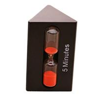 espadas de areia venda por atacado-Hourglass HOT-Triangular Colore Sand Clock 3/5/7 Minutos Hour Meter