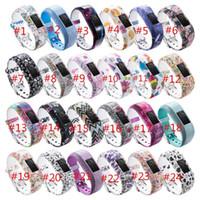 Wholesale silicon wrist resale online - 24COLORS Replacement Wrist Band For Garmin vivofit JR JR2 Watch pattern Silicon Strap Clasp For Garmin vivofit JR Watches watch band