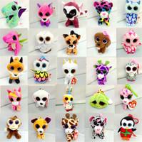 Wholesale ty big eye plush for sale - Group buy Boos TY Kawaii Plush Keychain Toys Stuffed Cat Big Animals Doll Penguin Gift Beanie Rabbit Pendant Eyes Toy For Handbag Onboc
