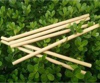 ingrosso birra di bambù-Cannucce di bambù naturale Succo Acqua Birra Paglia Riutilizzabile Eco Friendly Tubularis per la festa di compleanno di compleanno GGA452 400pcs