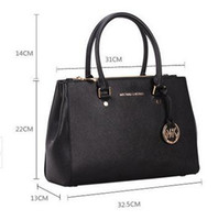 Wholesale Medium Leather Tote Bags - famous brand Designer fashion women luxury bags lady PU leather handbags brand bags purse shoulder tote Bag female 6616