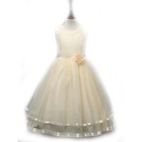 vêtements d'enfants pour les mariages achat en gros de-Vêtements pour enfants Flower Girls Dresses for Weddings Rose pageant robes Le style européen et américain sans manches Livraison gratuite