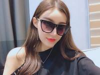 470cc899f9c29 Wholesale plastic sunglasses online - popular fashion Luxury women designer sunglasses  square plate metal combination frame