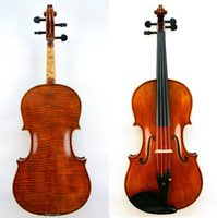 Wholesale ebony models online - Master Viola Amazing Sound Stradivari Model Nice Flame Back For Pro Players