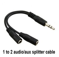 Wholesale 200pcs Audio Conversion Cable mm Male To Female Headphone Jack Splitter Audio Adapter Cable
