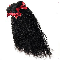 Wholesale remy curly hair price for sale - Group buy Special price promotion Black Color Kinky Curly Virgin Hair Wave Human Remy Hair Extensions a Unprocessed Hair Extensions Inchs