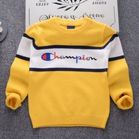 Wholesale korean baby knitted clothes for sale - Korean style Boys Girls Sweaters Baby stripe Pullover Knit Kids Clothes Autumn New Kids Sweaters Boy Girl Clothing School