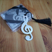 Wholesale books label - Music Note Alloy Bookmark Novelty Ducument Book Marker Label Stationery Exquisite Gift Book mark