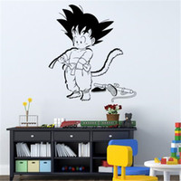 ingrosso drago design adesivo-Art Design Dragon Ball Wall Sticker vinile animato Kid Goku Movie Cartoon Home Decor fai da te adesivo per la camera dei bambini