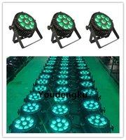 impermeabilizacion led par puede al por mayor-10 unidades 9x12w par al aire libre led impermeable al aire libre delgado par 64 rgbw led par can luces