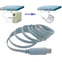 longueur du câble réseau achat en gros de-Freeshipping Câble de longueur 1,8 M USB à RJ45 Console Câble de console série Express Routeurs de réseau câble pour routeur Cisco pour Huawi