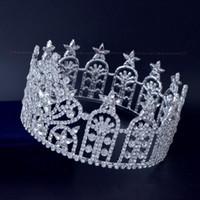 ingrosso corone di spettacolo di qualità-Beauty Pageant Full Round Crwns Rhinestone austriaco Crystal Quality Assurance Stelle Miss USA Crown Headwear High Grade Diademi Mo238