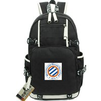 Wholesale la laptop resale online - Montpellier day pack La Paillade daypack HSC Football club schoolbag Soccer packsack Laptop rucksack Sport school bag Out door backpack