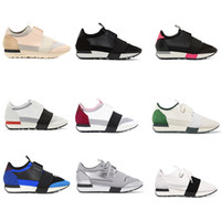 Wholesale cut watermelon - 2018 New Designer Sneaker Man Woman Leather Casual Shoes Low Cut Breathable Mesh Sneaker Outdoors Trainers Runner Shoes US5-11.5 With Box