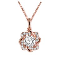 flowers jewellery 2018 - BOAKO Crystal Flower Silver Color Necklace Women Gift Flower Necklace Jewellery Clavicle Chain Pendant Charms X7-M2