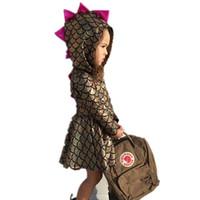 ingrosso costumi baby novità-Pudcoco 0-5T Neonato Bambino Ragazza vestiti vestiti ragazze Dinosauro Party Princess Costume novità Abiti Abiti abbigliamento