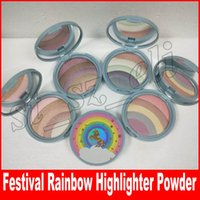Wholesale bronzer highlighter makeup palette resale online - Makeup Face Rainbow Strobe Highlighter Compact Life s A Festival Multicolor Bronzer make up Palette powder