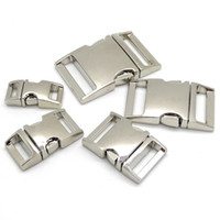 10pcs lot Side Release Curved Metal Buckle for Bag DIY Paracord Buckles For Bracelet