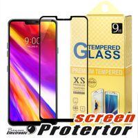 cubiertas del teléfono zte al por mayor-Para J2 COUR LG G7 Huawei Mate 20 X P20 lite PRO STYLO 4 ZTE Blade Zmax 2.5D Protector de pantalla de cristal templado de cubierta completa para Metropcs