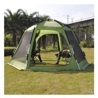 палатки один оптовых-одна спальня один торговый центр 4-8 человек кемпинг семейный палатка двойные слои анти sunsine водонепроницаемый для путешествий пешие прогулки пляж рыбалка