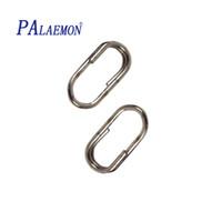 anneaux de pêche achat en gros de-100pcs / lot gros connecteur de pêche ovale Split Ring Snap Accessoires de pêche