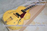 chinesische hohlkörpergitarre großhandel-Heißer Verkauf L5 E-gitarre Hohl Ahorn Körper Chinese Guitarra Als Bild Linkshänder Benutzerdefinierte Verfügbar