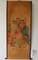 Wholesale chinese ancient paintings resale online - Antique Chinese painting landscape painting living room office decoration ancient painting Fu Lushou Samsung