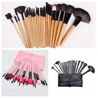 Wholesale 24pcs makeup brush set resale online - drop shipping set Professional Makeup Brushes Set Face Eyes Soft Blending Full Function Makeup Artist Brush Beauty Tools Kit