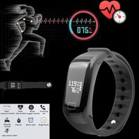 Wholesale Camera For F1 - Fitness Tracker F1 Activity Wristband Real-time Heart Rate Monitor Bluetooth Wireless Smart Bracelet Waterproof smart band For Android   IOS