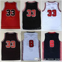 Wholesale nwt shirt - NWT 33 Scottie Pippen Jersey Throwback Uniforms 1992 USA Dream Team Scottie Pippen Cheap Shirt Home Red Road Away White Navy Blue