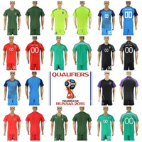 f464ea000 2018 World Cup Goalkeeper Jersey Soccer Short Argentina 1 GUZMAN Brazil  ALISSON Belgium COURTOIS France Lloris Colombia OSPINA Football Kits