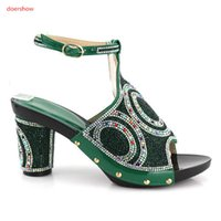 Wholesale pump shoes for sale - Hot Selling African Sandal Shoes Italian Crystal Middle Heels Woman Pumps For Party Wholesale On Sale Free Shipping XC1-1