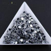dmc glas großhandel-DMC hochwertige mode flache runde halbrunde glas wärmereparatur strass DIY handy / nail art zubehör