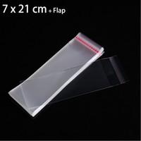 colar bolsas de plástico venda por atacado-100 pcs 7x21 cm Limpar Auto Selagem Saco De Plástico Sacos De Embalagem de Presente para Colar de Jóias Embalagem Pequenas Bolsas
