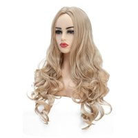 Wholesale blonde curly cosplay wigs - Fashion&New Blonde Color Long Curly Wig for Women High Temperature Fiber Cosplay Wig or Life Wigs