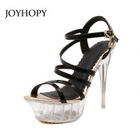 Wholesale Sexy Ladies Stripping - 2016 Summer Style Sandals For Women Gladiator Super High Heel 14cm fringe sandals Sexy Stripped ladies Shoes Brand 069