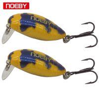 baits floating vmc hook оптовых-Noeby 1 шт. 28мм / 2г Приманка для кузнечиков с жесткой приманкой для рыбалки Плавучий приманка с крючком VMC Treble Hook Y18101002