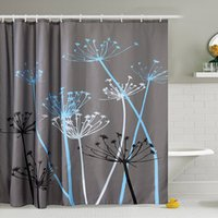 Wholesale modern fabric curtains for sale - Group buy 180 cm Dandelion Shower Curtains Waterproof Mildew Resistant Polyester Fabric Bathroom Curtains Home Bath Decor With Hooks WX9