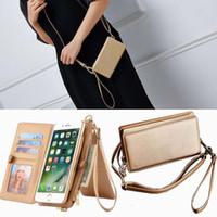 freie galaxie telefone großhandel-Mode Mädchen Flip Luxus Ledertasche für Iphone XS MAX XR 8 7 6 plus Holster Abdeckung für Galaxy Note8 Brieftasche Handytasche Cases