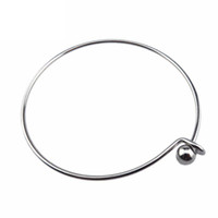 Wholesale wholesale stainless charm locket - Stainless Steel Expandable Bangle Bracelet Charms DIY Pearl cage pendant Bracelets Bangles For Pendant Locket cage bracelet Jewelry