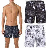 Wholesale Zip Brief - Men Swim Trunk Beach Shorts Swimming Short pants Printed Graphic Mesh Brief Drawstring Waistband Zip Closed Pockets
