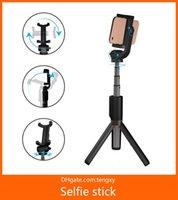 расширяемый монопод bluetooth selfie оптовых-Новый Bluetooth выдвижная Selfie палка штатив с беспроводной пульт дистанционного управления и штатив для Samsung для Huawei чехол для iPhone Х хз ХС XSMAX