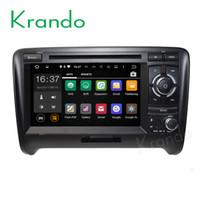 radio navegación para audi al por mayor-Krando Android 7.1 coche reproductor de DVD DVD gps para audi tt 2006-2014 sistema de navegación WIFI 3G Bluetooth obd2 Playstore DAB +