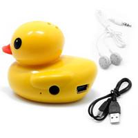 Wholesale Usb Duck - OOTDTY Cute Duck USB Mini Digital MP3 Music Player Support 32GB Micro SD TF Card