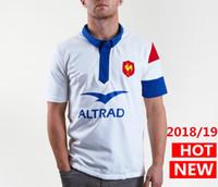 roupa da liga venda por atacado-jérsei France 2018/19 camisa de rugby Alternate França Jerseys casa camisas de rugby League roupas casuais s-3xl