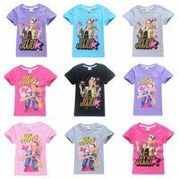 roupa grande do tamanho dos miúdos venda por atacado-18 cores tamanho grande meninas JOJO SIWA T-shirt venda quente 120-160 menina bonito camiseta de algodão crianças verão top tees crianças roupas