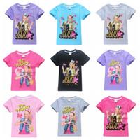 große kinder größe kleidung groihandel-18 Farben großes Größe Mädchen JOJO SIWA T-Shirt heißen Verkauf 120-160 Mädchen netten Baumwoll-T-Shirt Kinder-Sommer-Oberseite T-Shirts Kinder Kleidung
