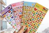 etiquetas de bolha 3d venda por atacado-Diy bonito lovey 3D bolha esponja engraçado kawaii adesivos dos desenhos animados animal macio brinquedos para crianças presente criativo