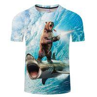 homens venda por atacado-Mr.1991INC Espaço Galaxy T-shirt Dos Homens / Mulheres camiseta 3d Impressão Gato Beijo De Peixe Dourado Tees Tops de Verão T-shirt Da Marca Mais S 6XL